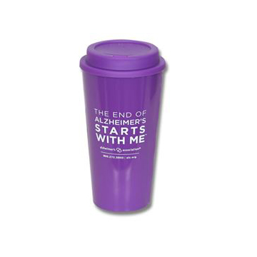 """The End of Alzheimer's Starts With Me"" Travel Cup"