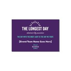 The Longest Day Participant Yard Sign-Market Your Event