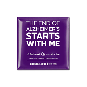 """The End of Alzheimer's Starts with Me"" Button"
