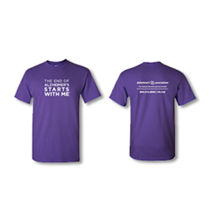 """The End of Alzheimer's Starts With Me"" Youth T-Shirt"