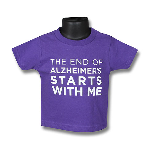 """The End of Alzheimer's Starts With Me"" Toddler T-Shirt"