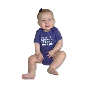 """The End of Alzheimer's Starts With Me"" Infant Onesie"
