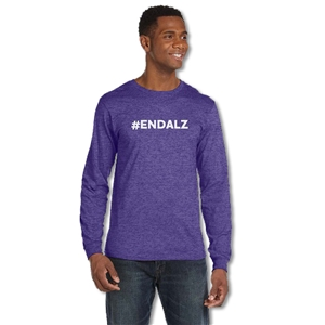 #ENDALZ Heathered Purple Long-Sleeved Shirt