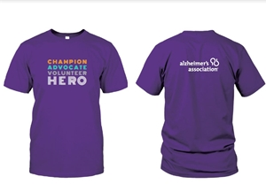"""Champion, Advocate, Volunteer, Hero"" T-shirt"