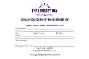 tld cash donation receipt