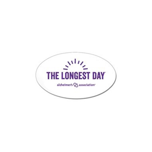 The Longest Day Oval Car Magnets
